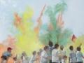 Emma Stroude Colour Riot oil 100cm x 100cm 2019