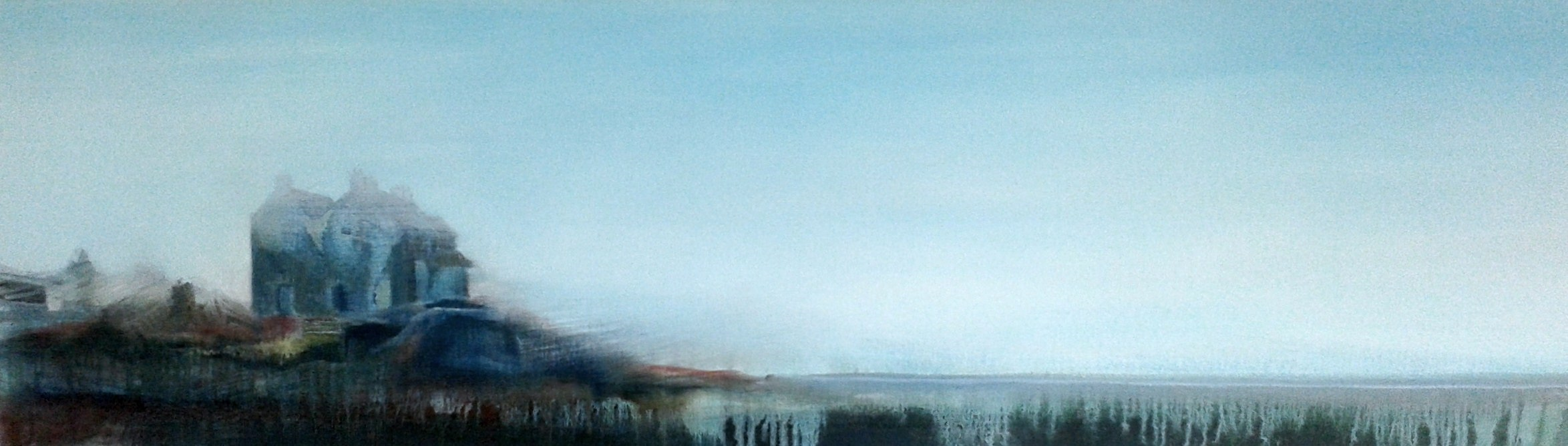 Emma Stroude Swept to Sea 30cm x 100cm 2015