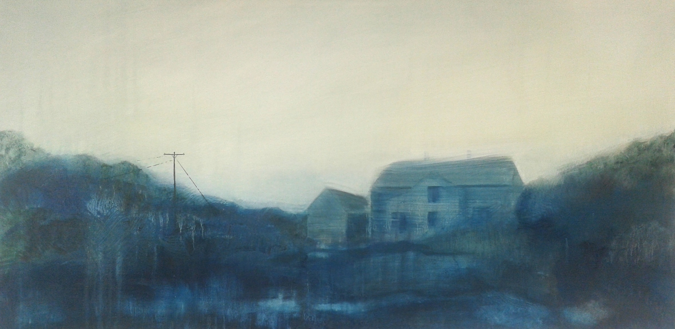 Emma Stroude Under the Same White Sky 40cm x 80cm 2015