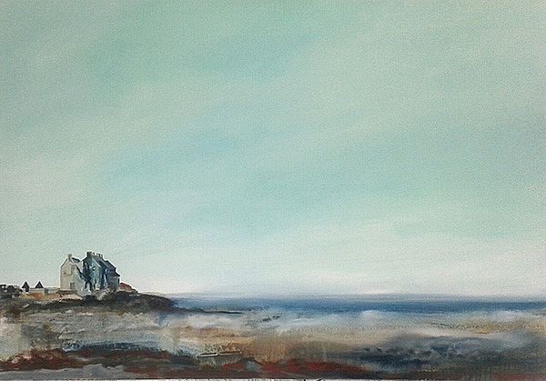 Emma Stroude Wide Sky Weathered Stone 2015 70cm x 100cm