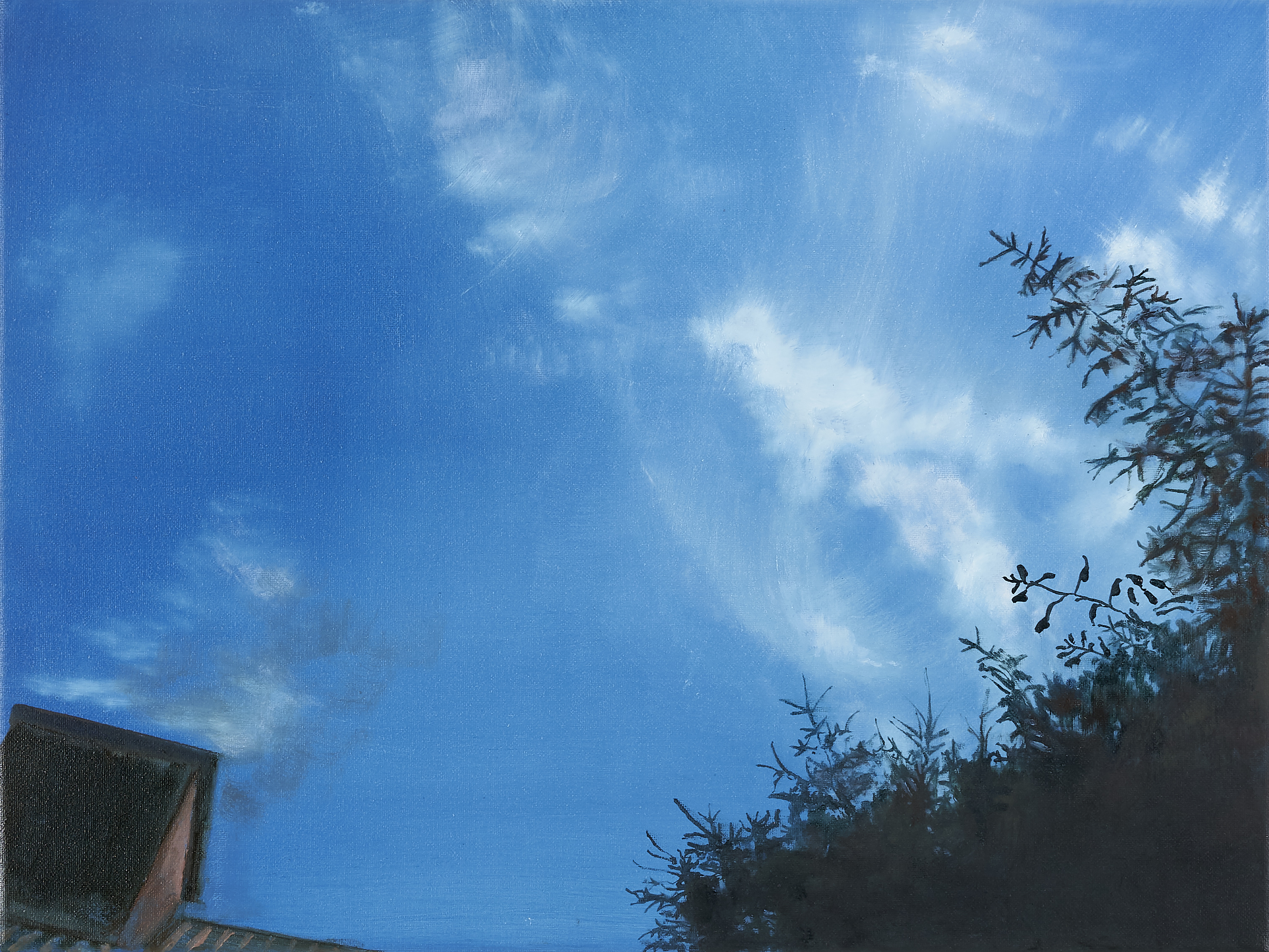 Thinking About The Little Things, Oil on Canvas, 30cm x 40cm (Photography Dickon Whitehead)