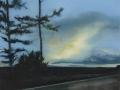 Revelation Road, Oil on Canvas, 30xm x 40cm, 2017, Photography Dickon Whitehead 2017